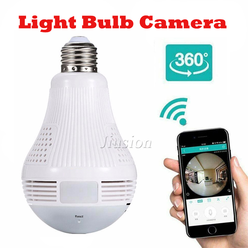 Wifi Mini 360 Camera Light Bulb Wireless Panoramic Smart IP Camcorder Video CCTV Home Security Surveillance Secret Micro Cam image