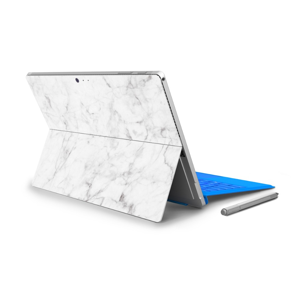 YCSTICKER - For Micro Surface Pro 4 Vinyl Back Full Decal Tablet Netbook Sticker Marble Painting Skin Cover Logo Cut Out