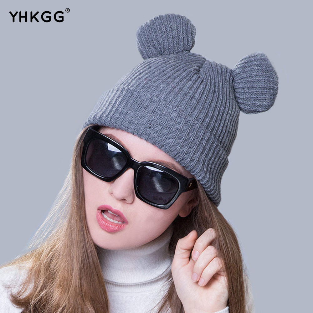 2017 of the latest fashion Have a lovely the hat of the ear Lovely naughty lady's hat women's warm and beautiful style simple lines 2017 fashion hat deserve to act the role of natural a warm hat lovely hair bulb the bulb can be removed