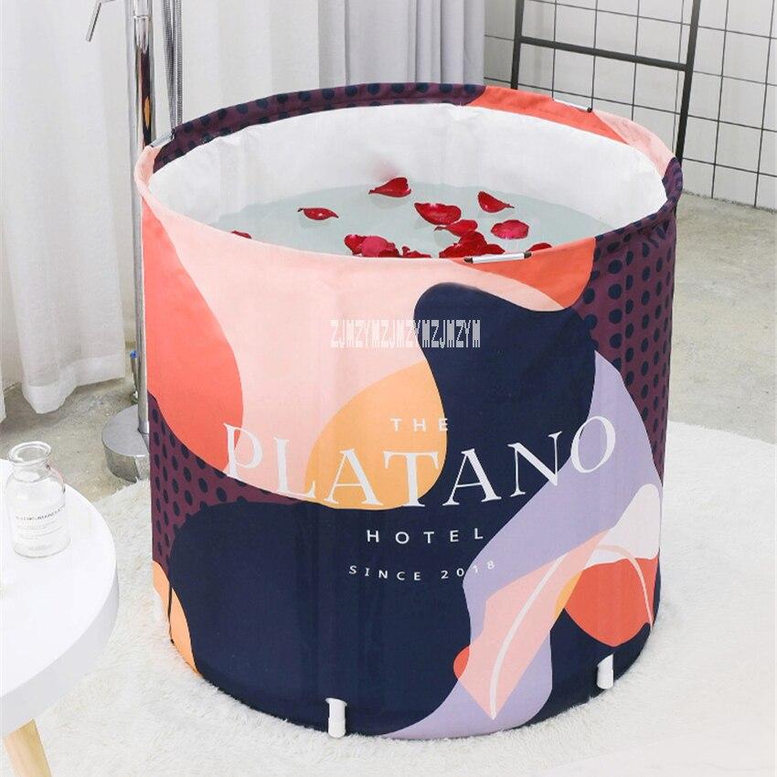 Qualité Portable pliant bain baril ménage grande baignoire adulte épaississement pliable bain seau consommation d'eau 120-150L