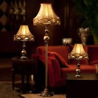 Resin Led Floor Lamp Antique Luxurious Bedroom Design Led Bulb Lamp E27 110V 220V European Style Floor Lamp for Living Room Lamp