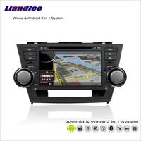 Liandlee Android Car Multimedia Stereo Per Toyota Highlander/Kluger 2007 ~ 2013 Radio CD Dvd Navigazione GPS Audio Video