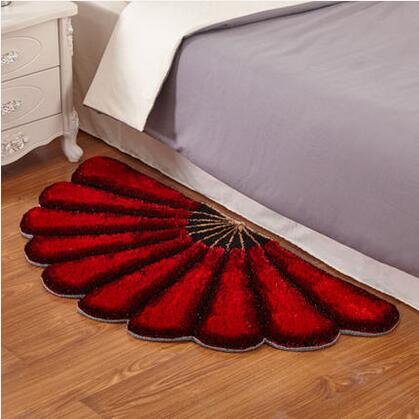 3D Fan coréen soie en forme de chambre tapis pour salon et zone jardin style stretch fil tapis chambre tapis tapis de sol