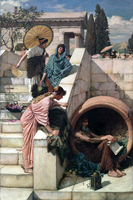 Neo Classical Figurative Painting Canvas Portrait Poster Beauty Picture Giant Picture Home Modern Art Diogenes D