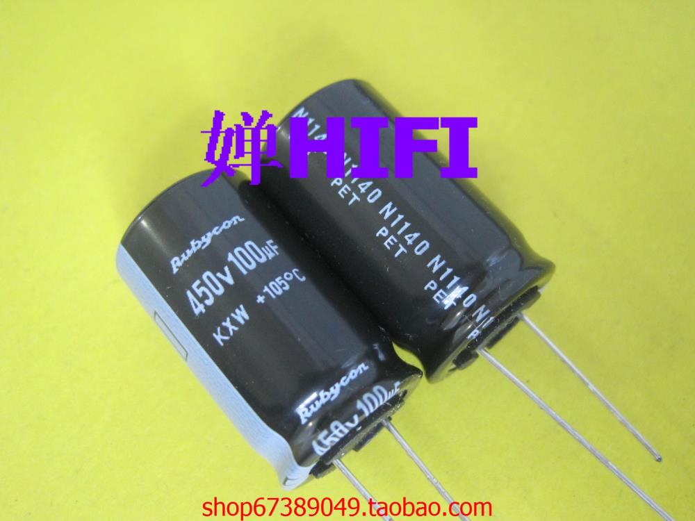 2015 Rushed Supercapacitor Bolsa 20pcs New Japan Rubycon Genuine Ruby Kxw Electrolytic Capacitor 450v100uf 18x30mm Free