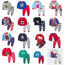 hot deal buy 2018 christmas kids pajama sets high quality christmas pajamas 2-7yrs baby boys girls clothes cartoon children clothing sets