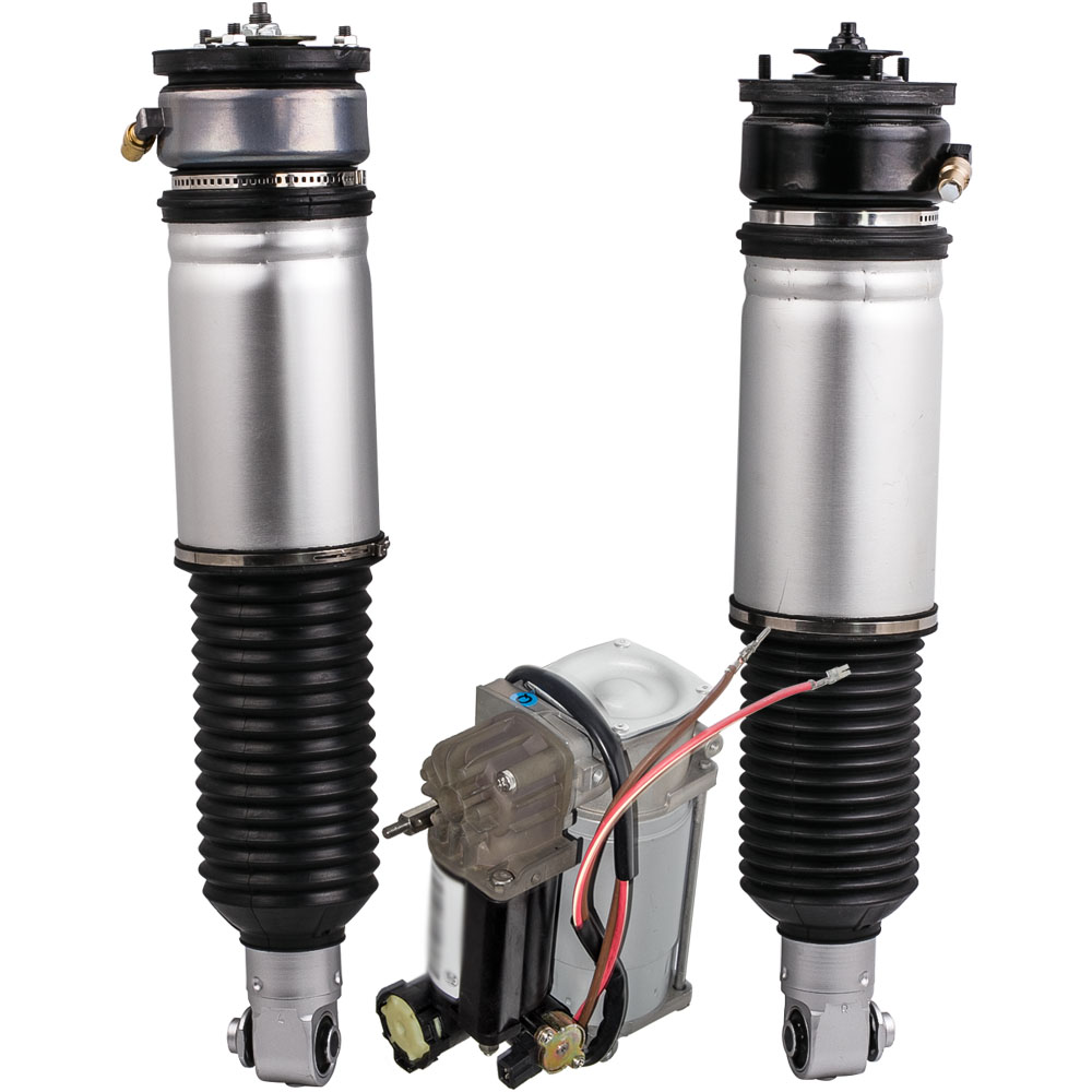 Air Suspension Complete Air Spring + Pump For BMW 7 Series E65 E66 745i 745Li 37126785538 37126758574 37126758573 37226787616 metal parking brake gear actuator repair kit for bmw e65 e66 745i 750i 760i li 40teeth