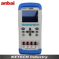 Handheld Multi channel Thermometer Thermocouple Tester J/K/T/E/S/N/B TFT LCD Touch Screen New AT4204
