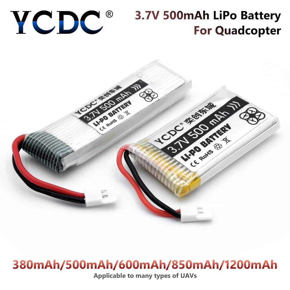 YCDC Li-Po Bateria 3.7 v 380-1200 mah Para Syma X5C X5SW X5C-1 H107 Hubsan Zangão Recarregável baterias para câmera Quadcopter