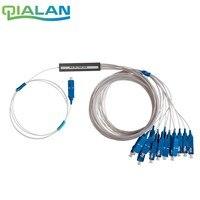 10pcs 1x16 PLC Fiber Splitter, Mini Module, 900um, SC/UPC Optical Coupler SC Singlemode simplex Steel Pipe plc optical splitter