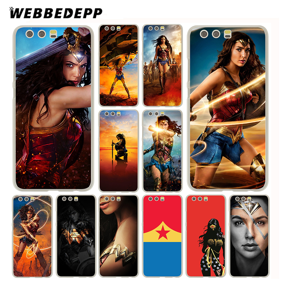 Webbedepp Wonder Woman чехол для Huawei P20 P10 P9 P8 P7 P Smart Lite Mini Plus Pro & Nova 2 плюс 2 S 2i 2 Lite