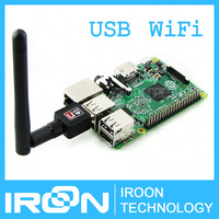 Mini 150M Raspberry PI 2 WiFi USB Adapter Dongle with antenna RTL8188CUS wireless network lan adapter,support AP,works with PC