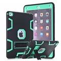 Híbrido armor case para ipad air 2 (ipad 6) retina niños seguro resistente a prueba de golpes cubierta dura del silicón case w/protector de pantalla de cine
