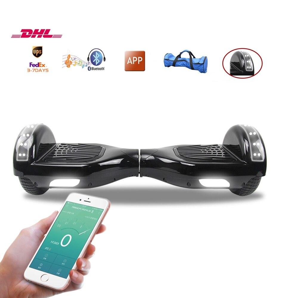 ul2272 6 5 inch electic smart hoverboard app control. Black Bedroom Furniture Sets. Home Design Ideas