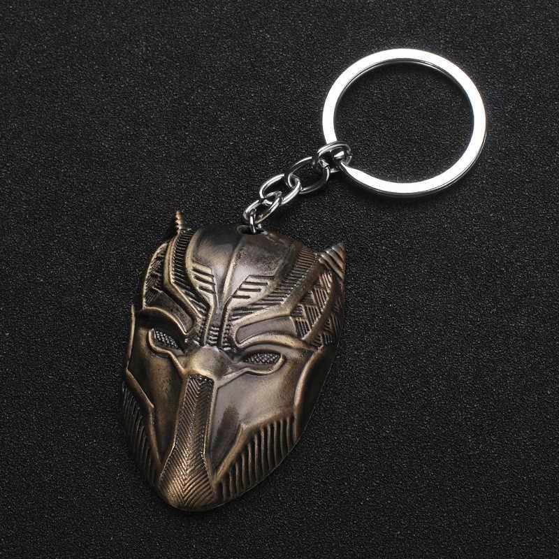 Hot Capitão América Máscara Chaveiro Chaveiro Pantera Negra Os Vingadores Guerra Civil 3 Infinito Guerra Chaveiro para As Mulheres Homens jóias