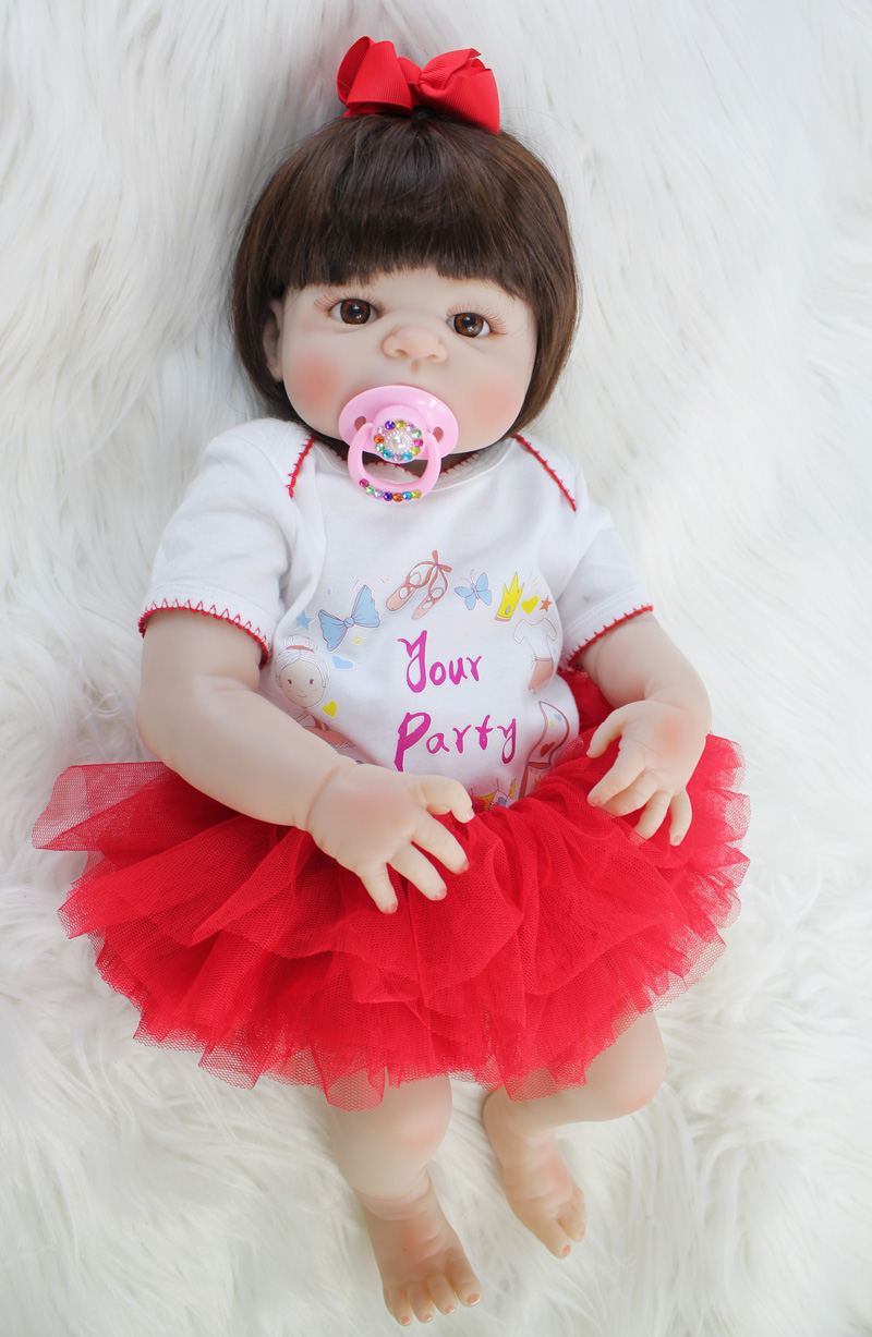 55cm Full Body Silicone Reborn Baby Doll Lifelike Vinyl Newborn Princess Toddler Girl Boneca Alive Bebe Bathe Toy Birthday Gift55cm Full Body Silicone Reborn Baby Doll Lifelike Vinyl Newborn Princess Toddler Girl Boneca Alive Bebe Bathe Toy Birthday Gift