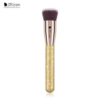 DUcare 1 PCS Foundation Pincel Flat Top Lustrando Fundação Escovas de Alta Qualidade Pincéis de Maquiagem Profissional