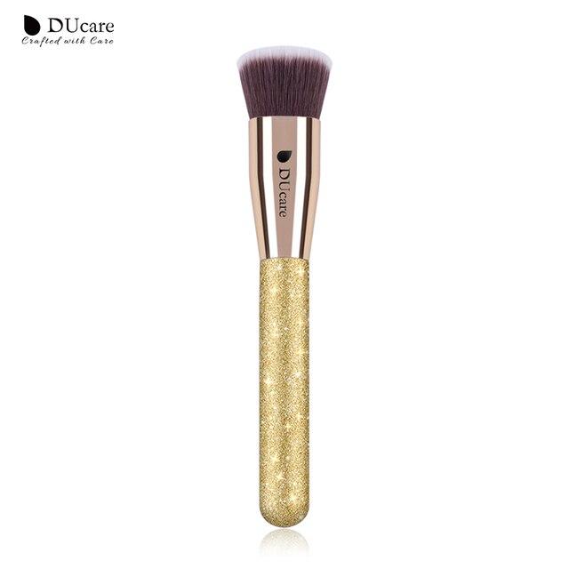 DUcare 1 piezas Fundación cepillo plano pulido Fundación cepillos de alta calidad pinceles de maquillaje profesional