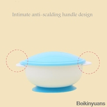 Baby Feeding Tableware Children Plate Sucker Bowl Toddler Baby Kids Child Feeding Lid Training Bowl with Spoon Learnning to eat-in Dishes