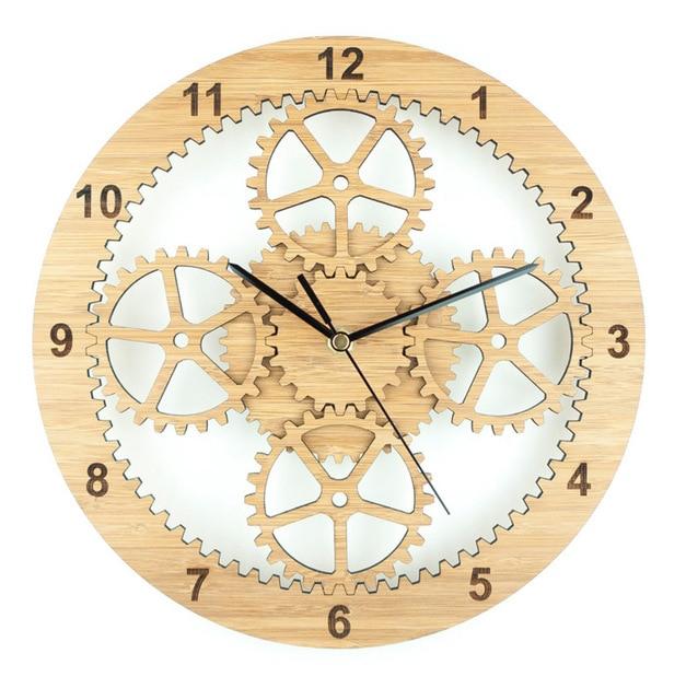 Die Naturliche Umgebung Des Bambus Holz Wanduhr Uhr Mode Kreative