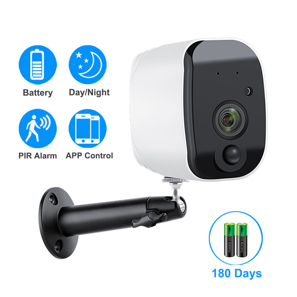 1080P WiFi Camera Battery Powered 2.0MP HD Outdoor Wireless Security IP Camera Surveillance Weatherproof PIR Alarm Record Audio