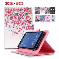 Tháp đen eyey Flowers PU Leather Đứng Trường Hợp Bìa Cho Amazon Kindle Fire HD 7 Tablet trường hợp 7 inch Phổ + flim