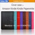 Автомобильных пу кожаный чехол чехол для Amazon Kindle paperwhite с жесткого задней жилья бесплатная доставка 50 шт./лот