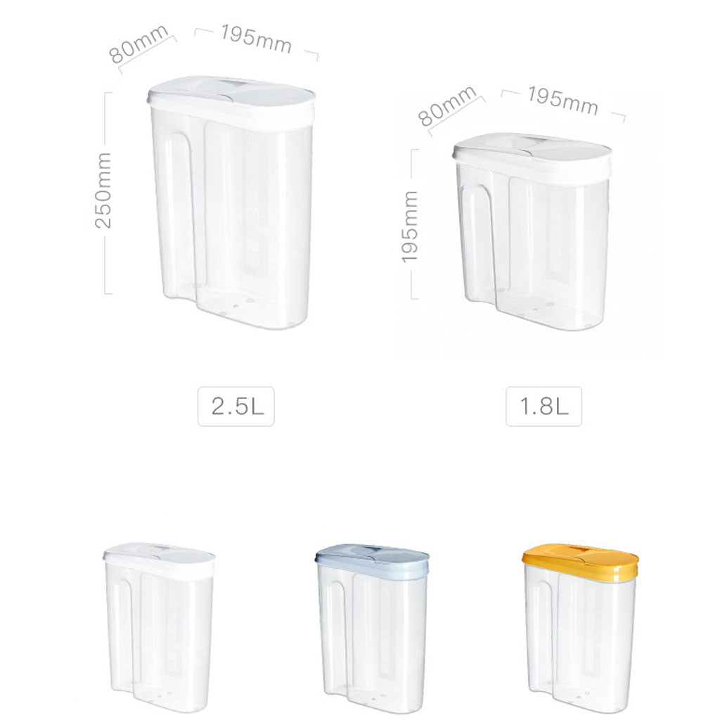Image 5 - Plastic Dispenser Storage Boxes Preservation Kitchen Food Grain Rice Pot Container Kitchen Rice Storage Box Flour Grain Storage-in Storage Bottles & Jars from Home & Garden