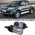 Shin-Man 2pcs For Toyota Hilux Vigo Pickup 2006-2014 Front Turn Signals T20 WY21W 7440  auto car turn light winker LED  for car