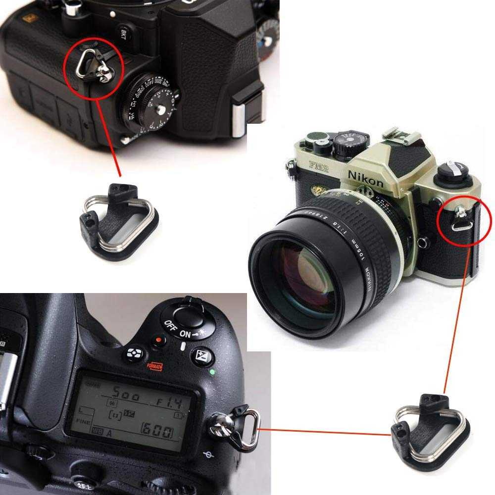 Ayunjia 5pcs Replacement Alloy Split Ring Triangle Rings Hook for Camera Shoulder Strap