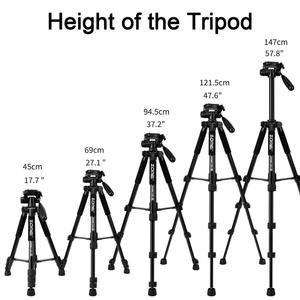 Image 4 - ZOMEI Q222 Camera Tripod Tripode Stative Flexible Photographic Tripod Monopod Travel Stand for Smartphone Camera DSLR Projector