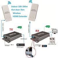 Беспроводной HDMI Extender ИК пульт дистанционного Поддержка 1080 P расширить до 300 м максимальной внутренней и 3 км максимально открытый Беспроводн