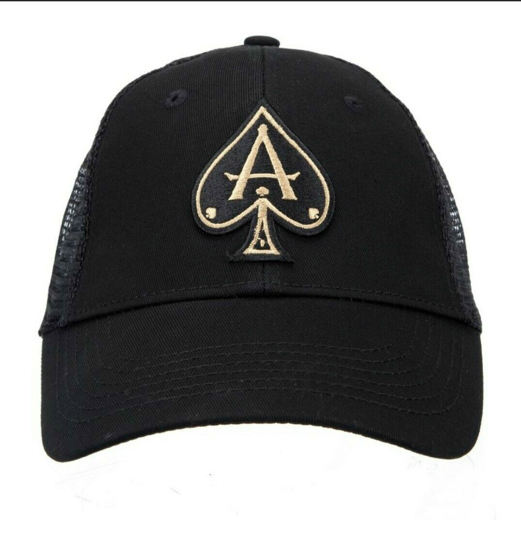 Printed Ace Vestiti Black   Baseball     Cap   with Golden Ace NEW WITH TAGS!
