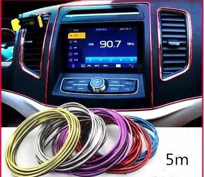 Bandes de décoration de voiture, bandes lumineuses chromées, lignes de garniture intérieure, fentes de porte à usage central-102