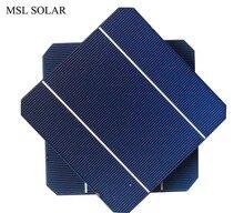5x5 MSLพลังงานแสงอาทิตย์DIYชุดแผงเซลล์แสงอาทิตย์50ชิ้น/ล็อตเซลล์แสงอาทิตย์monocrystalline 18% effiencicyเซลล์แสงอาทิตย์เกรดแผง.จัดส่งฟรี