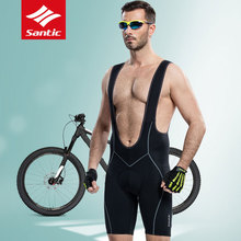 2017 New Santic Mens Paded Cycling Bib Shorts Breathable MTB Road Bike Cycling Jersey Reflective Quick Dry Bicycle Clothing