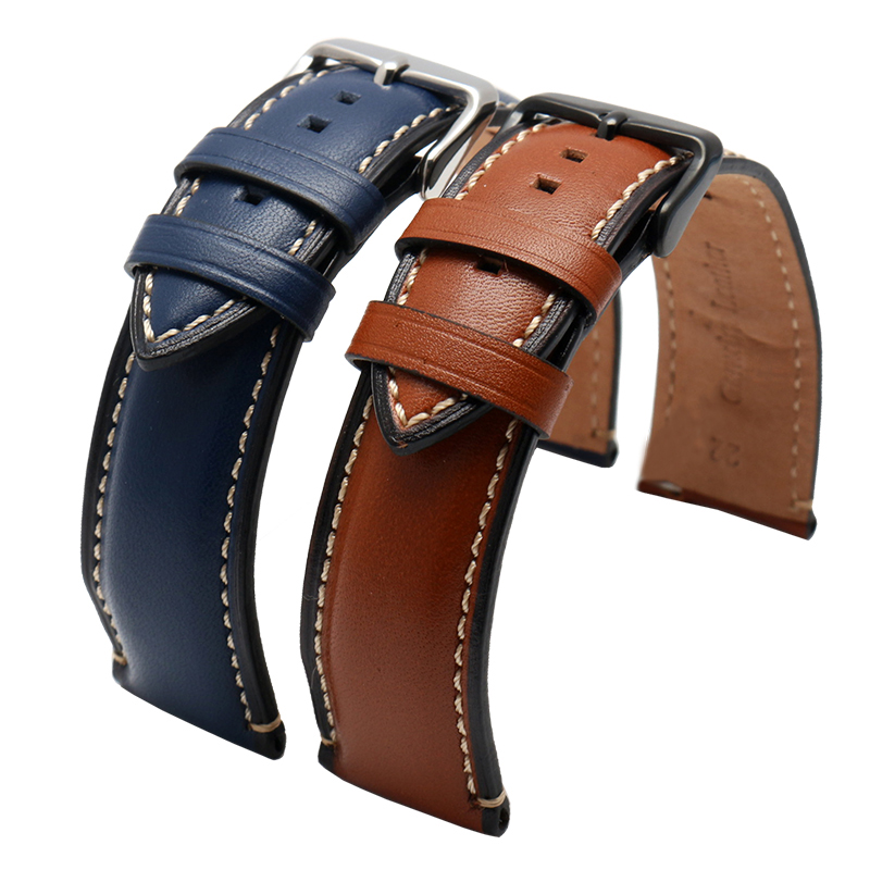 New Genuine leather strap 20mm 22mm 24mm watchband for fossil FTW1114/FS5151 watch leather bracelet Watch strap