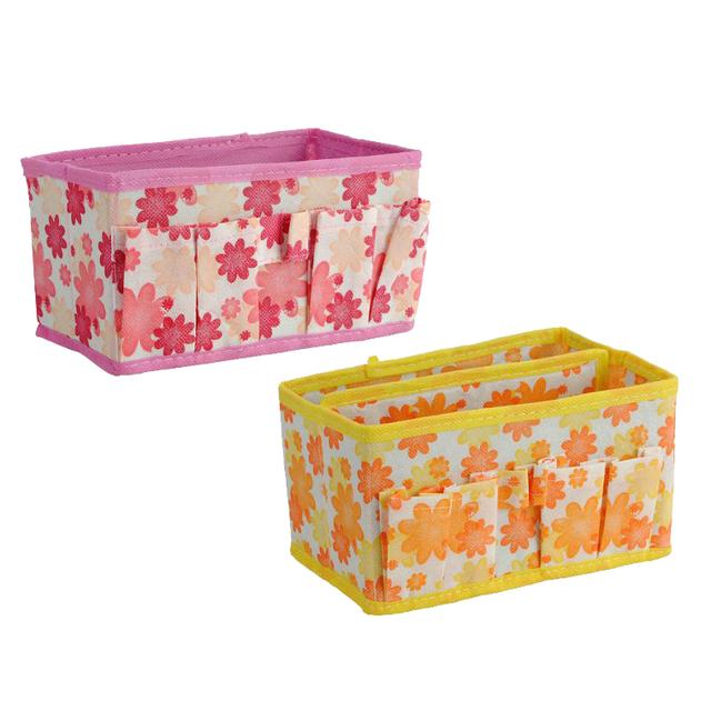 Comercio al por mayor 5 * Plegable Multifunción Maquillaje Cosméticos Caja de Almacenamiento de Contenedores Bag Case Cosas