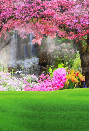 Flower tree photo backgrounds waterfall photography backdrops for photo studio photographic background camera fotografia ashanks photography backdrops solid screen 1 8m 2 8m backgrounds porta retrato for camera fotografica photo studio