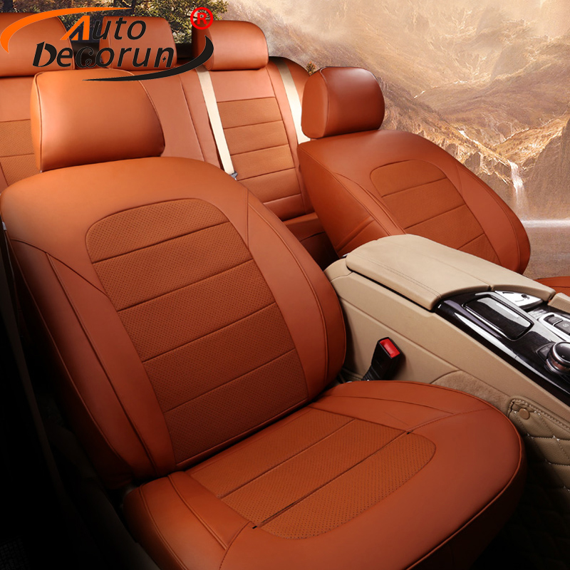 AutoDecorun Genuine Leather Seat Cushions for BMW 1 Series 116i 118i Seat Covers Cars Accessories 5 Seats Protectors 2007 2018