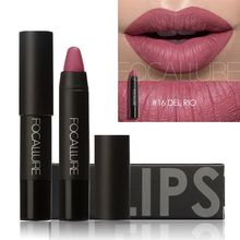 Beauty New Brand FOCALLURE Lipstick Sexy Long Lasting Tattoo Lip Tint Waterproof Pigment Nude Matte Lip Stick Pencil Wholesale