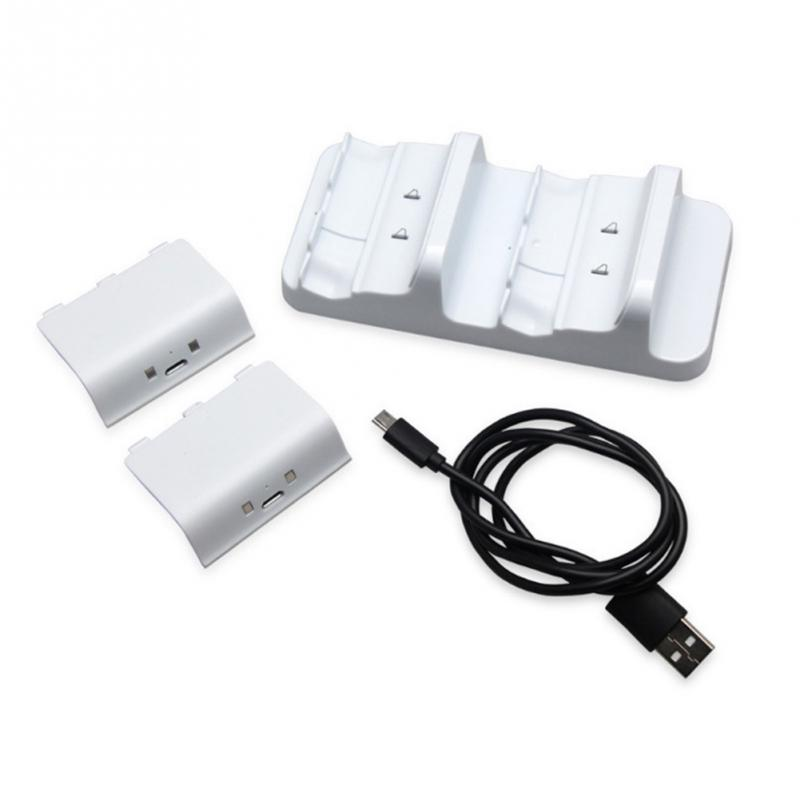 Dual Charging Base Controllers Portable Charger with Battery Packs For Xbox One Game Accessories USB Stand Charging Dock