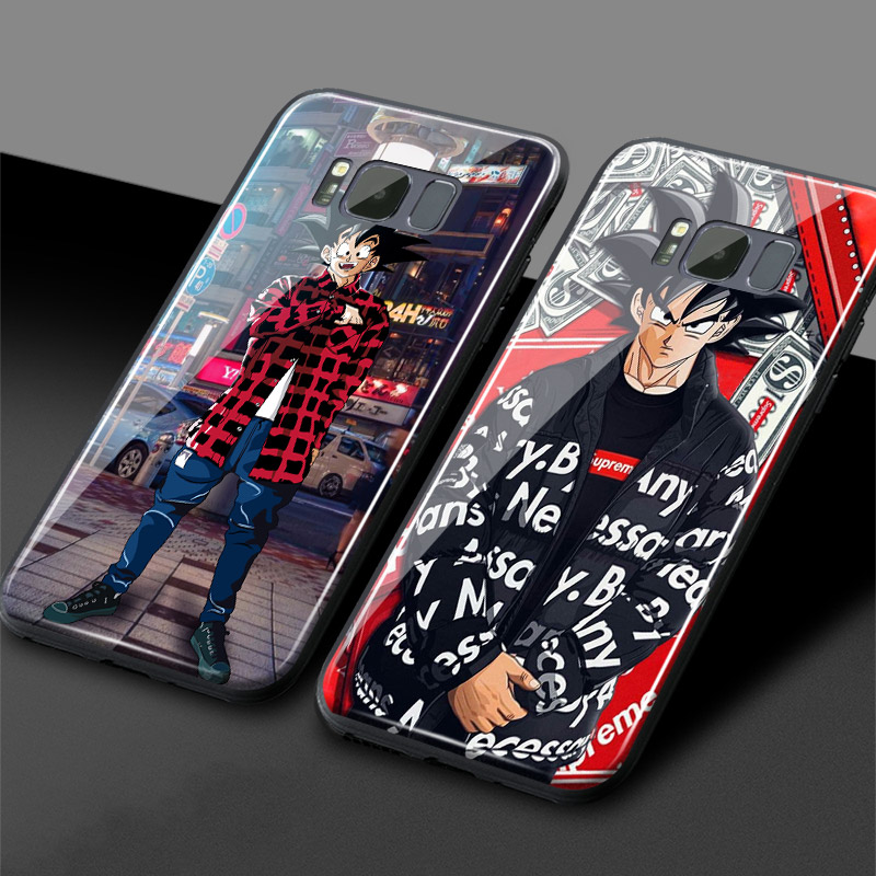Goku Dragon ball Super Z Fashion Trend Glossy Glass Phone Case Cover For Samsung Galaxy S7 Edge S8 S9 S10 e Plus Note 8 9Goku Dragon ball Super Z Fashion Trend Glossy Glass Phone Case Cover For Samsung Galaxy S7 Edge S8 S9 S10 e Plus Note 8 9