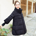 Winter Jacket Women Coat Medium-Long Parka Women Jackets Thicker Down Padded Cotton Coat Overcoat Fashion Jacket High-Neck C1702