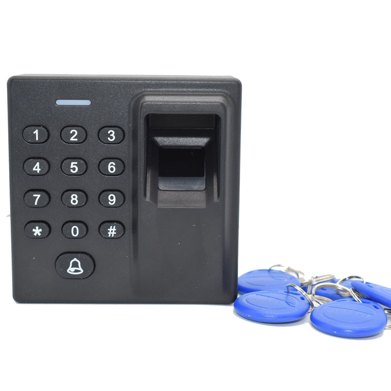 Mini Size 125Khz Rfid Standalone Fingerprint Access Control System Door Password Access Wiegand 26 Output Free 5 ID Keyfob biometric face and fingerprint access controller tcp ip zk multibio700 facial time attendance and door security control system