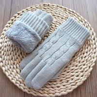 Neue Arrivial Frauen Handschuhe Herbst Winter Warme Wolle Handschuhe Handschuhe Für Damen Mode Gestrickt Samt Touchscreen Weibliche Handschuhe