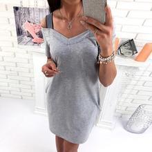 Для женщин Повседневное платье короткий рукав платье с открытыми плечами элегантные пикантные Bodycon Летние платья Плюс Размеры
