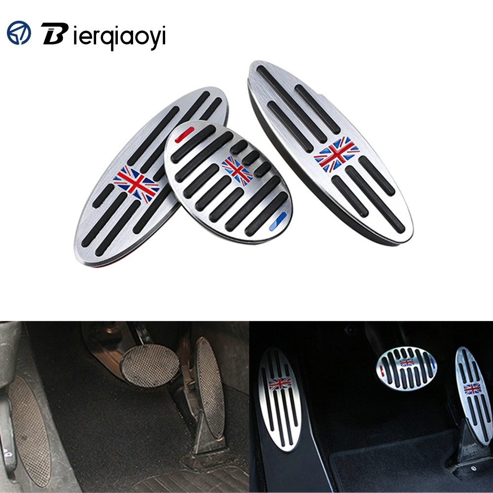 Footrest For MINI Cooper F60 Countryman Accessories Clubman F54 R55 S One R50 R53 R60 R61 F55 F56 Pedal Sticker For MINI R56 R60
