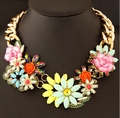 Min.order $10 Mix order New SPX4700 2014 Fashion Amazing Crystal Beaded Flower Necklaces & Pendants