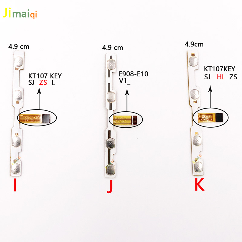 Image 3 - switch on off Power Volume button Flex cable For BD026 081 k107 DMD KT107 KEY tablet conductive flex with sticker replacement-in Tablet LCDs & Panels from Computer & Office